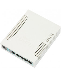 MikroTik RouterBoard 260GS 5 Port Gigabit + SFP Managed Switch with UK Power Supply