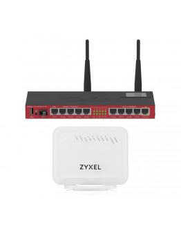 MikroTik RB2011 Inc. Zyxel VMG1312